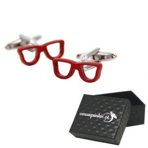 Spinki do mankietów Okulary