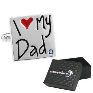 Spinki do mankietów I Love My Dad