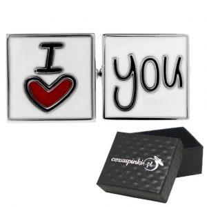 Spinki do mankietów I Love You