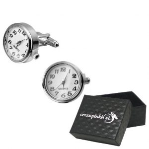 Spinki do mankietów Zegary prawdziwe