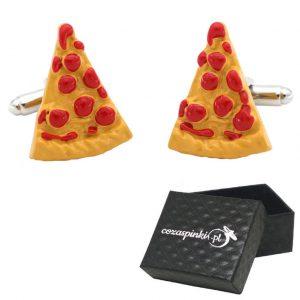 Spinki do mankietów Kawałki Pizzy