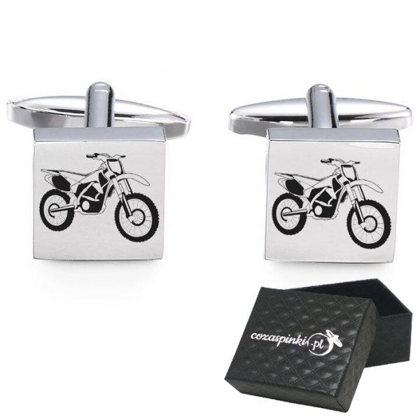 Spinki do mankietów z grawerem motocykl